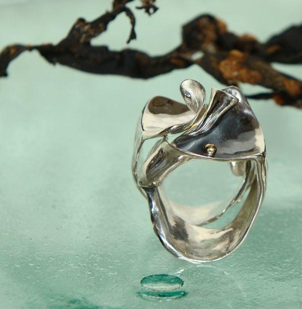 Konkylie i sølv